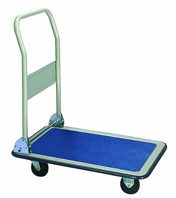 Wesco 272035 Deluxe Series Steel Platform Truck with Folding Handle, 660-lb. Loa
