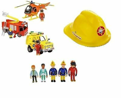 New Fireman Sam Playset Toys - Engine, Helicopter, Rescue Vehicle & Figures