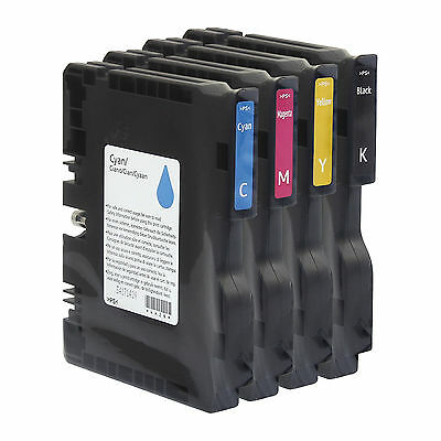 Ink Cartridges CMYK Original Gel for Ricoh Aficio SG2100N Colour Printer GELJET