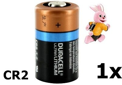 1x Duracell CR2 Ultra lithium battery NK050 GB