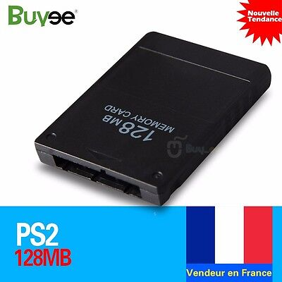 CARTE Mémoire 128MB MEMORY CARD Jeux Pour CONSOLE Sony PLAYSTATION 2 PS2 Neuf FR