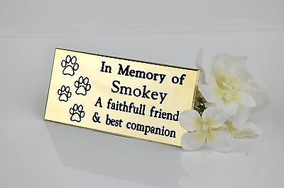 Solid Brass Pet, Dog, Cat Engraved Memorial Plaque
