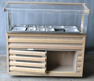 Used Cold Buffet Serving Counter/Sneeze Guard 5ft self contained, Free Shipping!