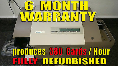 Datacard 280 Card Embosser Foil Top Rear Indent Smart Card +Mag -10x FASTER 150i