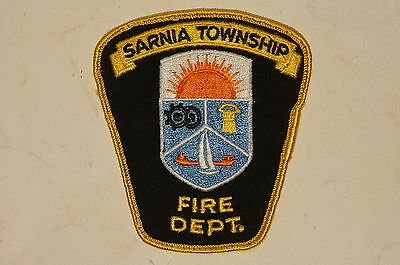 Canadian Ontario Sarnia Township Fire Department Patch
