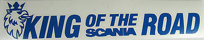 Scania King of the road truck truckers decal Quality vinyl sticker