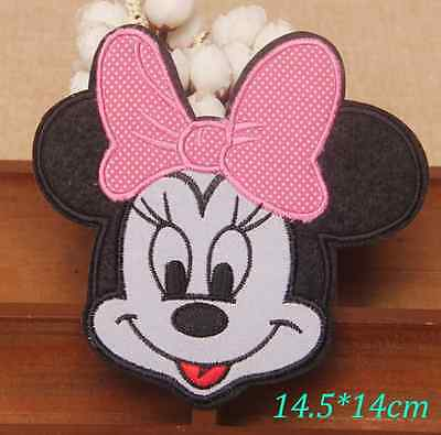 Large Minnie Mouse Iron Sew on Patch Embroidered Character Applique Motif
