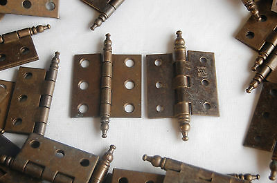 2nd 60 (30 pair) N.L.Co ROCKFORD-Antique Brass FINISH Furniture HINGES BALL ENDS