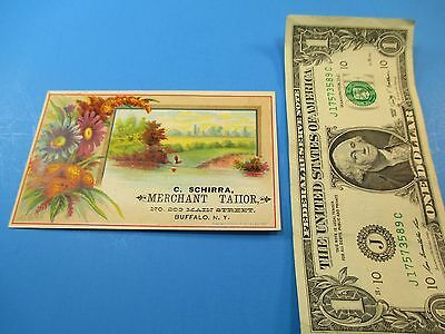 Antique Trade Card C. Schirra Merchant Tailor No. 203 Main Street Buffalo NY TC2