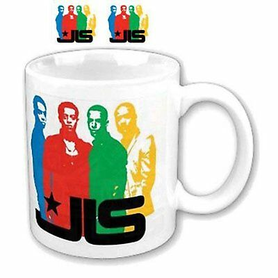 JLS Band Photo Colour Silhouette White Coffee Mug Cup Boxed Official Fan Gift