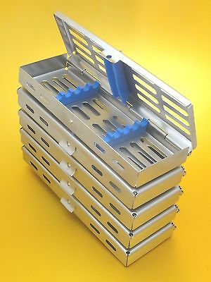 Set of 5 Dental/Surgical Sterilization Cassette Rack for 5 Instruments CE New