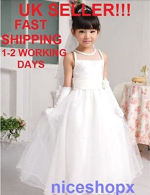 Girls Flower/Bridesmaid/Party/Princess/Wedding/Christening/COMMUNION Dress(31)