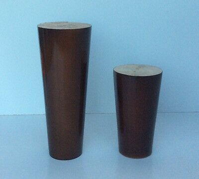 4X Wooden Furniture Legs Feet 100mm 150mm Couch Lounge Sofa Cabinet Dark Colour