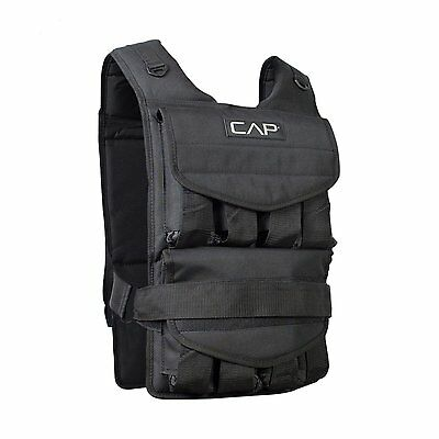 Weighted Vest 80 Lbs CAP Barbell Adjustable Training Exercise Running Walking