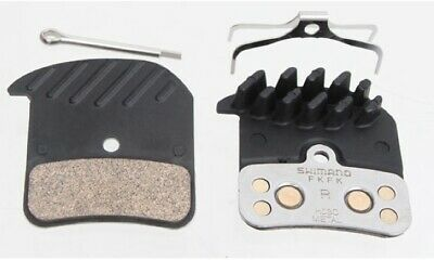 Shimano Metal Brake Pads (H03C) With Cooling Fins & Spring W/Split Pin  NEW Bicy