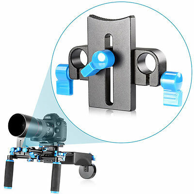 Neewer Lens Support Bracket Mount Clamp for 15mm Rod Rail System Follow Focus US