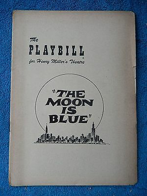 The Moon Is Blue - Henry Miller's Theatre Playbill - August 11th, 1952 - Cook