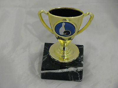 Mini Gold Cup Tenpin Bowling Trophy  Engraved FREE