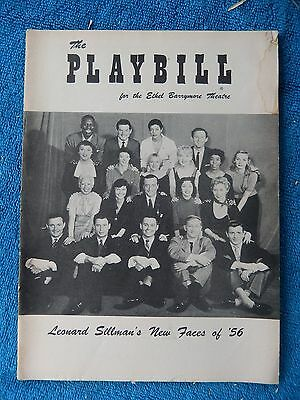 New Faces Of 1956 - Ethel Barrymore Theatre Playbill - July 2nd, 1956 - Connell