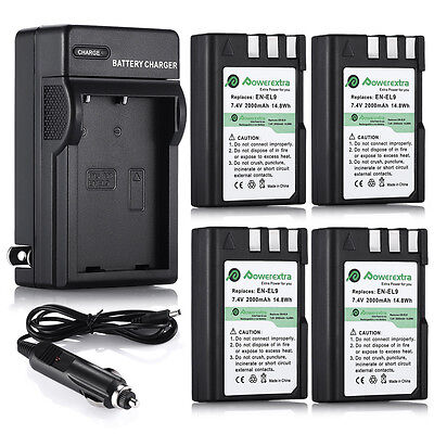 EN-EL9 EN-EL9a Battery for Nikon D3000 D5000 D40 D60 + Wall Dock / LCD Charger
