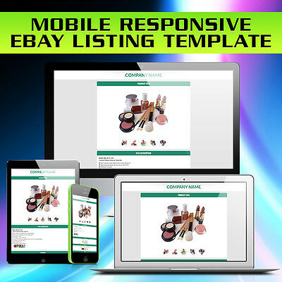 eBay Mobile Responsive Auction Template, Mobile Compatible Auction Templates