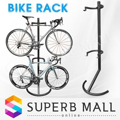 Gravity Bike Carrier Storage Rack Carries 2 Bikes Garage Stand Bicycle Hitch