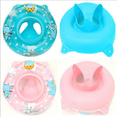 Inflatable Swimming Ring/Seat Handles Baby Kid Toddler Safety Aid Float Pool Toy