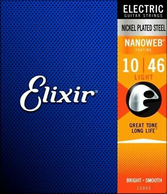 Elixir Nanoweb 10 - 46 Coated long life Electric Guitar Strings - 12052