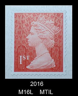 1st NVI - M16L - 2016 - MTIL  Single Stamp from 12x1st class booklet