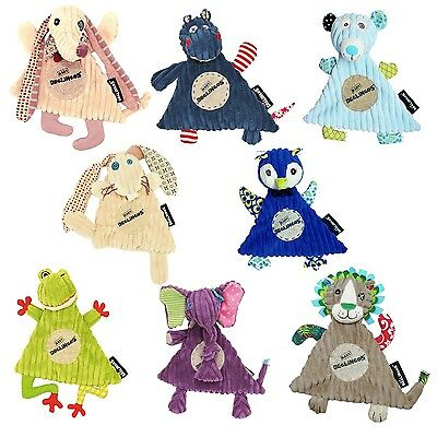 Deglingos Baby Comfort Blanket.8 quirky animal designs. Plush Corduroy Comforter