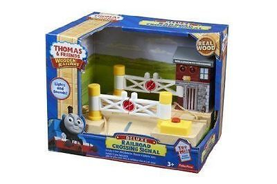 New Thomas Wooden Railway Deluxe Railroad Crossing Signal Toy