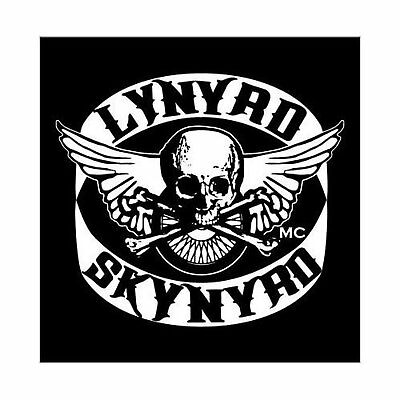 Lynyrd Skynyrd Biker Patch Skull Greeting Birthday Card Any Occasion Official