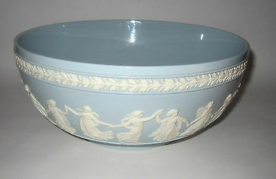 "Wedgwood Dancing Hours 10"" Bowl Blue Glossy with White"