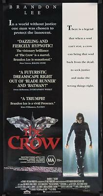 R338 THE CROW Aust daybill '94 Ernie Hudson, cool image of Brandon Lee!