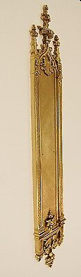 "22 1/2"" Solid Brass Architectural Door Hardware, Push  Plate - Vintage Designed"