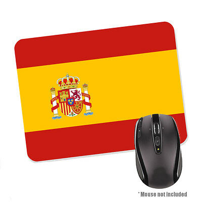 Spain Flag Rubber Base Mouse Mat Country Espana Spanish NEW