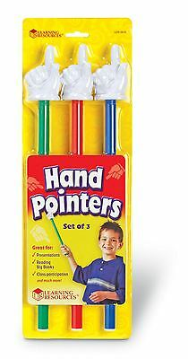 Learning Resources - 3 x 37.5cm Teachers Whiteboard Hand Pointers (triple pack)