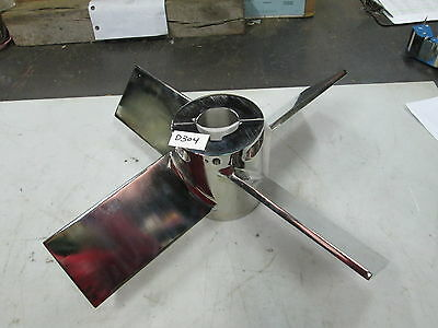 "Lightnin Polished S/S Split Assembly Impeller 4 Fins 23"" Dia 2-1/2"" Shaft (New)"