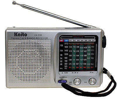 Kaito KA228 Pocket-size Portable 9 Band AM FM Shortwave Radio
