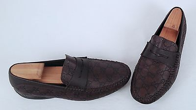 03de415b741 GUCCI  SAN MARINO  Driving Loafer- Brown- Size 9.5 US  8.5 G  8.5 UK ...