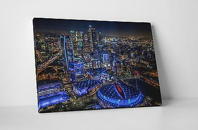 "Los Angeles Downtown Skyline Gallery Wrapped Canvas Print 30""x20"" or 20""x16"""
