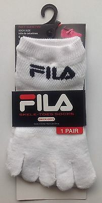 Fila Skele-toes Socks Girl Boy Size 6-8 Shoe Size 10.5-4 Qwick-Dry No Show NEW