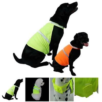 Fluorescent Security Dog Waterproof Reflective Pet Vest Clothes Safety Luminous