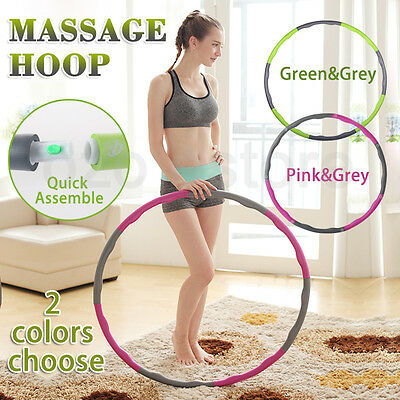 100CM Portable Foam Padded Fitness Weighted Hula Hoop Body Massage Adult 1.2KG