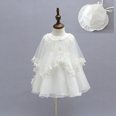Toddler Baby Girl Baptism Dress Crochet Christening Gown Christening