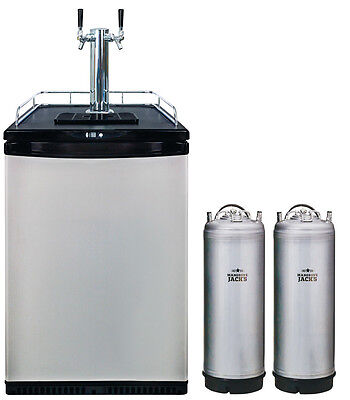 PRO 2 Tap Kegerator with 2 KEGS- Mangrove Jack's - set up your own bar - brew