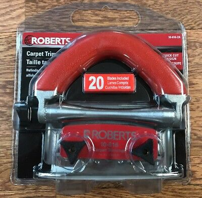 Roberts 10-616-2 Carpet Wall Trimmer Conventional With Free Blades