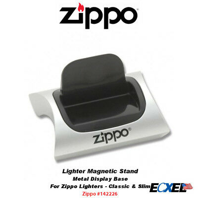 Zippo 142226, Magnetic Lighter Display Stand, Silver Color Metal Base