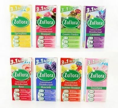 6 X 56Ml Mixed Zoflora Antibacterial-Disinfectant-Cleaner-Odour-Kills Germs