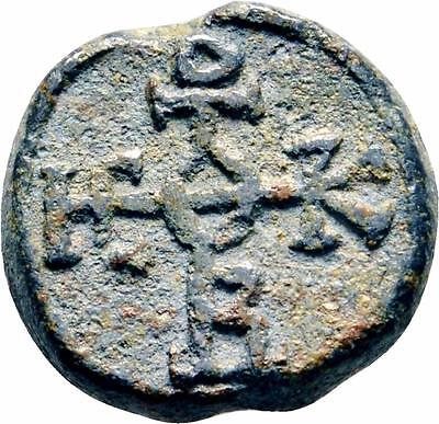 BYZANTINE Lead Seal of Gabriel Stratelates ca.800 Military General Theotokos God